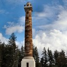 Picture - The Astoria Column, a monumnet to Oregon Pioneers.