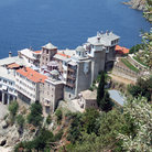 Picture - The waterfront monastery of Dionysiou, Mt Athos.