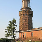 Picture - Old lighthouse in Atlantic Highlands near Sandy Hook.