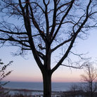 Picture - Sunrise over looking the ocean in Atlantic Highlands, New Jersey.