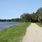 Picture - Walkway at Bayou Petite Anse on Avery Island.