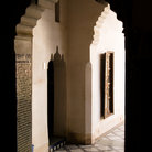 Picture - Doorway at the Bahia Palace in Marrakesh.
