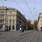 Picture - Paradeplatz and Bahnhofstrasse streets in Zurich.