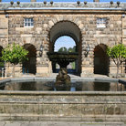 Picture - A fountain at Chatsworth House in Bakewell.
