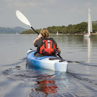 Picture - A kayaker on Lake Bala.