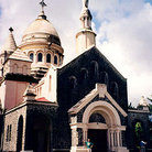 Picture - Balata Church, north of Fort-de-France, is a smaller size replica of the Sacre-Coeur Basilica in France.