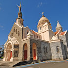 Picture - View of Balata Church near Fort-de-France.