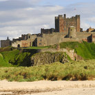 Picture - The beach in front of Bamburgh Castle.
