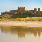 Picture - Bamburgh Castle seen from the water.