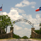 Picture - Entrance to Bandera Cemetery, Texas.
