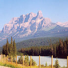 Picture - A view of Castle Mountain in Banff National Park.