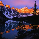 Picture - View of Moraine Lake in Banff National Park.