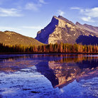 Picture - Mount Rundle reflected in Vermillion Lakes, Banff National Park.