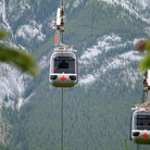 Picture - Gondolas in Banff National Park.