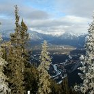 Picture - The mountains with Lake Minnewanka and Bow River Valley, Banff National Park.