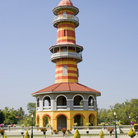 Picture - The Sages Lookout Tower, Ho Withun Thasana, of the Thai summer palace of Bang Pa-In near Ayutthaya .