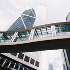Picture - Bank of China and walkway in Hong Kong.
