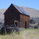 Picture - The old Wagon Shop at Bannack State Historic Park.
