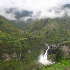 Picture - Waterfalls in the mountains near Banos.