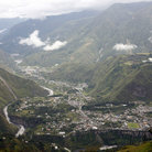 Picture - View over the valley and town of Banos.