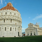 Picture - The Bapistery, Cathedral and the Tower in Pisa.