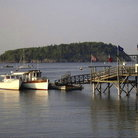Picture - Pier at Bar Harbor.