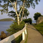Picture - Walkway along the coast at Bar Harbor.