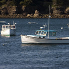 Picture - Lobster boats at Bar Harbor.