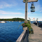 Picture - Dock in Bar Harbor, Maine.