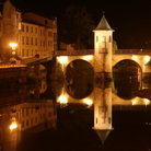 Picture - Night view of the Notre Dame Street bridge in Bar-le-Duc.