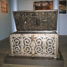 Picture - Exhibit of a chest from 17th-18th century in Barengasse Museum in Zurich.