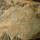 Picture - Exhibit of an old map in Barengasse Museum in Zurich.
