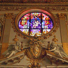 Picture - Stained glass window in Mary Major Basilica in Rome.