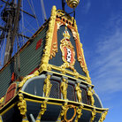 Picture - Detail of the Batavia Sailing Ship in Lelystad.