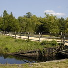 Picture - Bridge over creek in Batsto Historic Village.