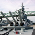 Picture - Heavy guns of the Battleship Massachusetts, Fall River, MA.