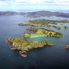Picture - Aerial view of Bay of Islands.
