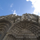 Picture - Church façade in Bayeux.