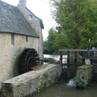 Picture - Waterwheel near Bayeux Cathedral.