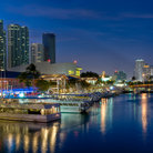 Picture - Night view of the Bayfront Marketplace in Miami.