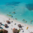 Picture - Aerial view of a beach at Cancun.