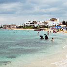 Picture - Beautiful beach near Cozumel.