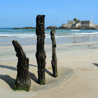 Picture - The beach in St Malo in Brittany.