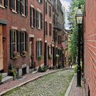 Picture - Typical streetscape in Beacon Hill, Boston.