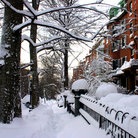Picture - Snow scene at Beacon Hill, Boston.