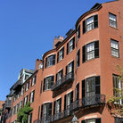 Picture - Old brownstones in Boston's Beacon Hill Area.