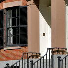 Picture - Entry and window to brownstone in Boston.
