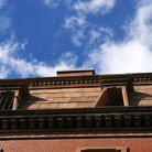 Picture - Looking up at a Beacon Hill building.