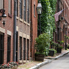 Picture - Early American homes in the Beacon Hill District of Boston.