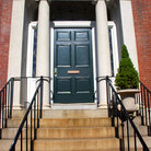 Picture - Entrance to Federal style rowhouse in Beacon Hill area of Boston.